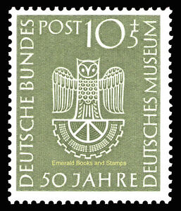 EBS Germany 1953 German Museum Deutsches Museum Munich Michel 163 MNH** cv $48