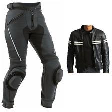 NOIR-BLANC strip-2 pièce Moto / Combinaison de moto cuir hommes racing-motogp
