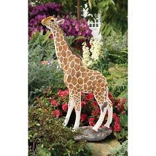 3' Realistic Statuesque Exotic Safari Hand Painted Giraffe Garden Yard Statue