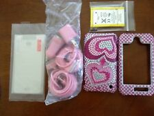 Iphone 3gs accessories bundle (Case, New Battery, Wall/car chargers, Film)