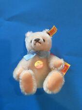"""STEIFF """"ORIGINAL TEDDY BEAR"""" EAN 0203/18 WHITE MOHAIR- MINIATURE  7""""-SQUEAKER"""