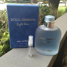 Dolce & Gabbana - Light Blue Eau Intense Pour Homme Sample -5ml NEW RELEASE 2017