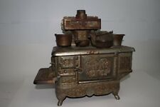 """Early 1900's J&E Stevens Cast Iron """"Rival"""" Childs Large Cook Stove, Original"""