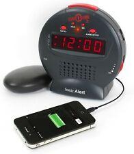 New Sonic Alert Sonic Bomb Jr. Alarm Clock with Super Shaker Usb Sa-Sbj525Ss New