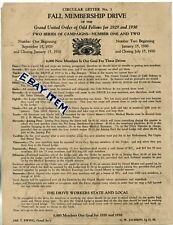 1929 GRAND UNITED ORDER ODD FELLOWS George Jackson CORSICANA TEXAS Negro School