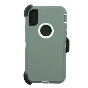 For Apple iPhone XR Defender Case Cover (Belt Clip Holster Fits Otterbox)