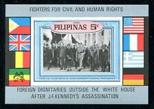 Philippines Michel XIV Bl.I, MNH. Fighters for Civil and Human Rights, Flags,