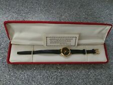 VNTG in Box ENCINO Watch w.50 Faceted Genuine Diamond