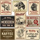 Blechschilder Sprüche Schild 17x22cm Deko Geschenk Männer Hobby Keller Garage