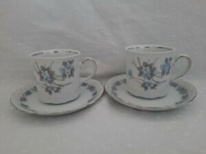 Coffe/Tea x2 Cups And Saucers Mitterteich Bavaria Made In Germany Floral