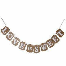 Love Is Sweet Bunting Garland Banner Wedding Party Decoration (Light Brown) X7X5