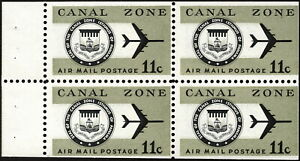 Canal Zone - 1971 - 11 Cents Olive & Black Canal Zone Airmail Booklet Pane #C49a