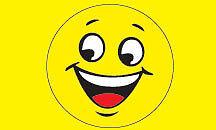 YELLOW HAPPY FACE FLAG 3x5  FREE SHIPPING  #326ra