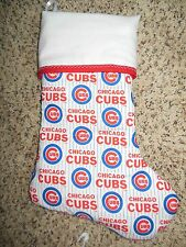 NEW!!!  Handmade Christmas Stocking, MLB Chicago Cubs COMPLETELY LINED
