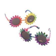 Sunglasses Sunflower Multi Glasses Accessory for 60s 70s Hippie Fancy Dress Glas