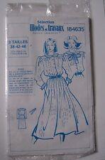 #) patron vintage MODES ET TRAVAUX 184635 robe femme