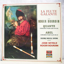 """33T BOURDIN QUANTZ ABEL Disque LP 12"""" FLUTE GALANTE Classique VOGUE 337 NM Rare"""