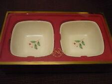 Lenox Holiday dipping bowls set of 2 Nib!