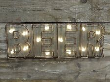"FUNKY RETRO LIGHT UP WALL SIGN ""BEER"" WALL DECORATION PUB BAR SIGN"