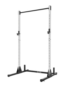 BRAND NEW CAP Barbell Power Rack Exercise Stand, White IN HAND