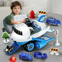 Airplane Car Toys Set Transport Cargo Airplane With Fire truck Vehicles DIY Hot