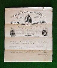 CIVIL WAR U.S. SANITARY COMMISSION COMMENDATION TO MONTEREY, MASS. 1866 ORIGINAL