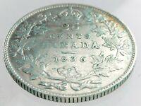 1936 Canada Twenty Five Cent Quarter Canadian Circulated George V Coin M623