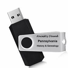 PENNSYLVANIA History Genealogy -164 old Books on FLASH DRIVE USB - Ancestors, PA