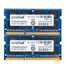 Crucial 2x 8Go PC3-12800 DDR3L-1600 204 Broches SODIMM Mémoire RAM (CT2KIT102464BF160B)