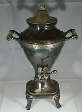 1925 Mb Means Best Manning Bowman Silverplate Coffee Percolator w/Cord-Works!