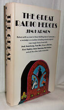 Jim Harmon THE GREAT RADIO HEROES First edition Nostalgia Hardcover in dj