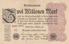 * Ro. 103a - 2 millones de marcos-Deutsches Reich - 1923-Fz: VL *
