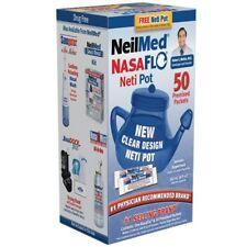 NeilMed NasaFlo Neti Pot Plastic Nasal Wash All Natural Relief 60 Sachets
