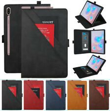 For Samsung Tab A S3/S4/S5e/S6 Tablet Magnetic Flip Card Wallet Stand Case Cover