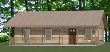 36x24 House -- 2 Bedroom 2 Bath -- 864 sq ft -- PDF Floor Plan -- Model 3D