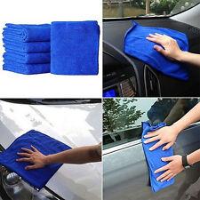 5pcs Doux Absorbant Lave Tissu Entretien De Voiture Microfibre Nettoyage