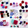 Romantic Velvet Wedding Party Earring Ring Pendant Jewelry Box Display Case Gift
