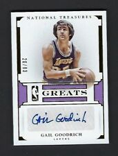 Gail Goodrich 2015-16 National Treasures Auto Signature Card - Lakers