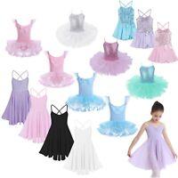 Kids Girls Ballet Dance Dress Gymnastics Leotard Tutu Skirt Dancewear Costume