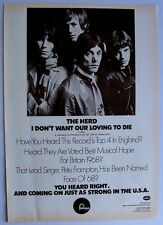peter frampton THE HERD 1968 Poster Ad I DON'T WANT OUR LOVE TO DIE humble pie