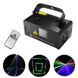 Portable RGB DMX 8CH Laser Lights DJ Party Bar Show Scan Projector Stage Light