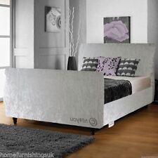 Modern Velvet Medium Beds with Mattresses