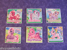 """MY LITTLE PONY 48 STICKERS TWO-COLOR HAIR MANES 6 Different Design 2.5"""" SQUARE"""