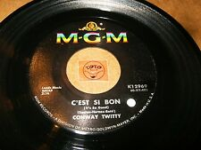 CONWAY TWITTY - C'EST SI BON - DON'T YOU DARE LET ME    / LISTEN / ROCK POPCORN