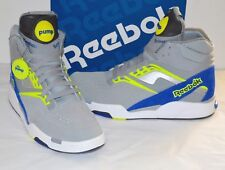 8df6181d984 New ListingNew Reebok Twilight Zone Pump Grey Royal Neon Yellow Rare sz  11.5 Omni Hi Top