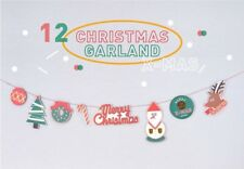 DIY Christmas Decoration Garland Red String Card Pictures