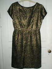 "Vintage 60's Mr ""T"" Bling Dress STEEL ZIPPER Size Medium"