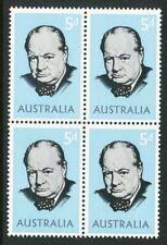 Australian 1965 Sir Winston Churchill block of 4 stamps, Mint Never Hinged