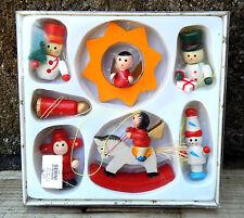 COFANETTO di decorazioni natalizie VINTAGE non usato Ornamenti-vecchio negozio STOCK #10