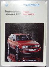 V07238 VOLKSWAGEN PROGRAMME 1990